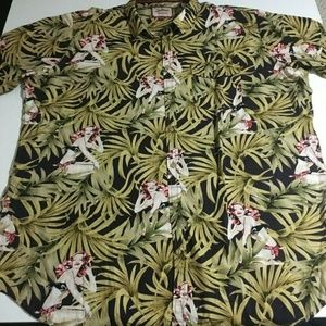 Joe Browns Mens 2XL Hawaiian Camp Shirt Floral